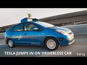 tesla google self driving car